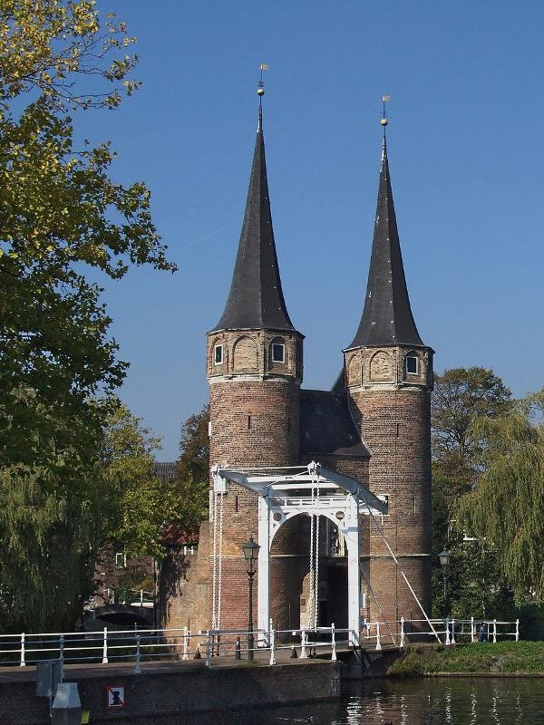 Oude Oostpoort in Delft.